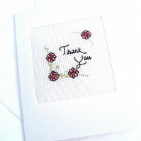 Thank You Cross Stitch Card