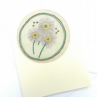 Embroidered Aster Card For September Birthday
