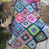 An Itsy Bitsy Stargazing Granny Square Crochet Lap Afghan Blanket