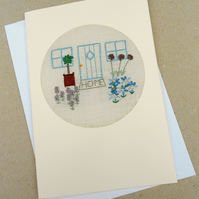 Embroidered New Home Card