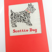 Scottie Dog Petit Point Card