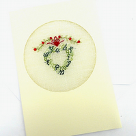 An Alphabet Petit Point Christmas Card