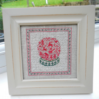 A Snow Globe Petit Point Picture