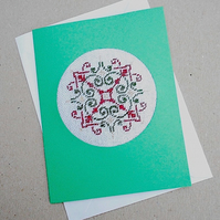 Scandi Petit Point Card Christmas Card