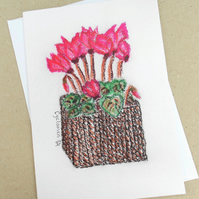 Cyclamen Pastel Card for Christmas