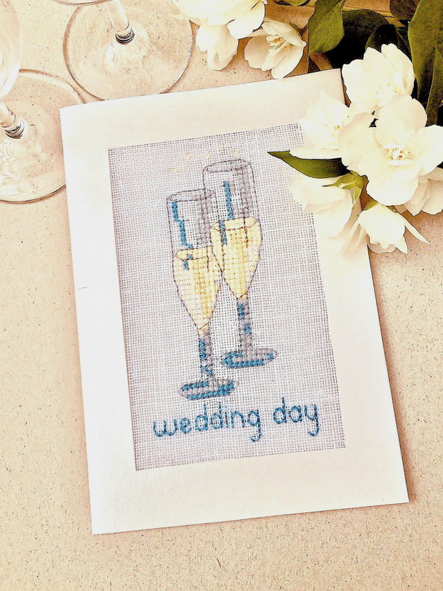 Wedding. 25th. 50th. Anniversary. Engagement Cross Stitch Card