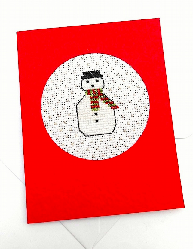 SALE...Snowman Puddings and Trees Cross Stitch Cards