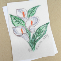 Canna Lily Pastel Card