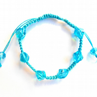 For December Birthday Macramé Turquoise Bracelet
