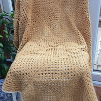 A Honey And Cream Stargazer Lap Blanket