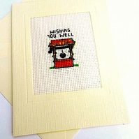 Get Well Cross Stitch In Recycled Card