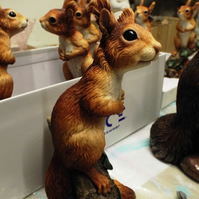 George Red Squirrel Kitten Sculpture Squirrel Sculpture Red Squirrel Model
