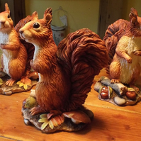 Rowan.Realistic red squirrel sculpture limited edition British wildlife art