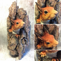 Red Squirrel Sculpture Wildlife art Squirrel wall art limited edition