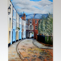 A4 Quality Mounted Giclee Art Print of Prince Street, Hull- by Suzie Nichols