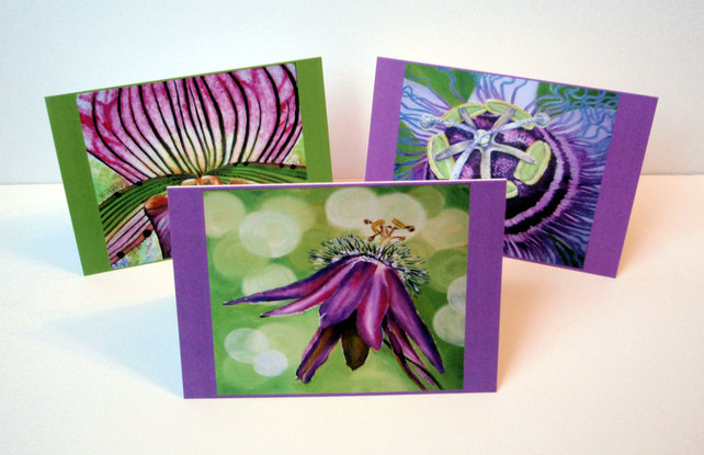 Magnified Flower. Set of 6 blank artcards depicting artwork of Suzie Nichols.