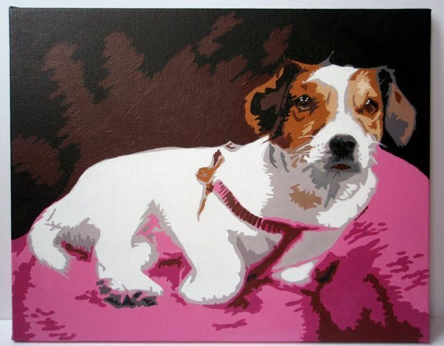 Bespoke Pop Art Painting in Acrylic on Canvas BASED ON CUSTOMERS OWN PHOTOGRAPH