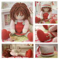 Chrystal Doll Toy Pdf Knitting Pattern Knitted Doll FREE Pdf for Sewn Pinafore