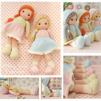 New! Little Yarn Dolls PDF Email Doll Knitting Pattern Toy Knitting