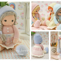 New! Little Yarn Dolls: Method 2  PDF Email Doll Knitting Pattern Toy Knitting