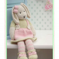 LILY.... A Spring Baby Bunny Email PDF Toy Knitting Pattern New