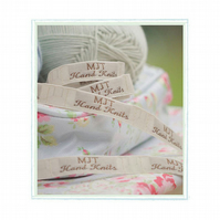 Mary Jane's TEAROOM Woven Labels x 2 Small  New  For MJT Hand KnitsToy Knitt