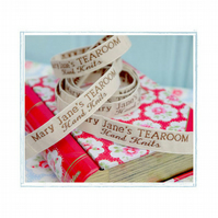Mary Jane's TEAROOM Woven Labels x 2  New  For MJT Hand KnitsToy Knitting Pat