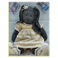 DAISY RABBIT  BUNNY Knitted Toy PDF Email Pattern Toy Knitting Pattern