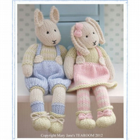 LILY & SAMUEL Spring Bunnies Rabbits  2 Pattern Email PDF Toy Knitting Patterns