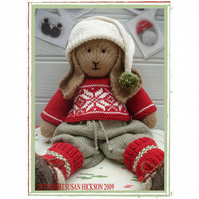 BO Rabbit XMAS Toy Knitting PatternBunnyLapland Visitors Part 1