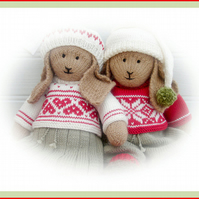 BO & ANIKA Rabbit 2 PDF  Email Toy Knitting Patterns