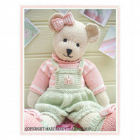 CANDY Bear Toy Knitting Pattern PDF Email Pattern