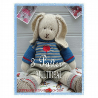 OSCAR PRIMROSE and BLUEBELL BUNNIES 3 PDF Email Toy Knitting Patterns