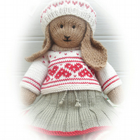 ANIKA Rabbit XMAS Toy Bunny Knitting Pattern PDF Lapland visitors Part 2