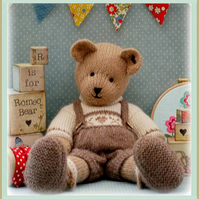 'ROMEO Bear' Teddy Bear Knitting Pattern PDF Email