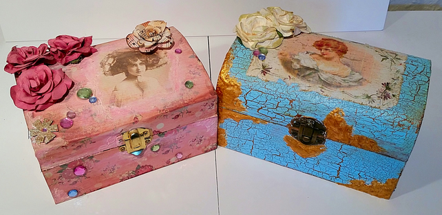 OOAK Decorated Wooden Boxes