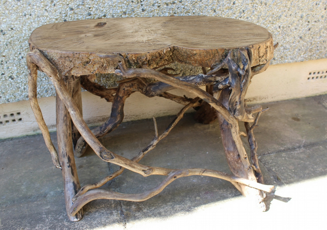 Driftwood Coffee Table Garden Bench