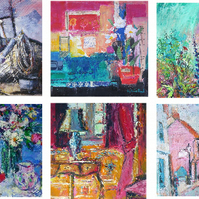 Pack of six fine art cards