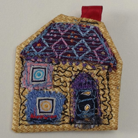 Art Textile Brooch