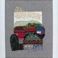 Textile Art of Buildings in a Landscape