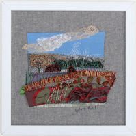 Textile Art Landscape Framed Picture
