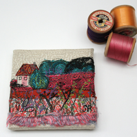 Mini Textile Art Landscape with Cottage