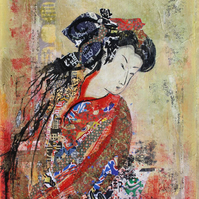 Geisha Fine Art Card