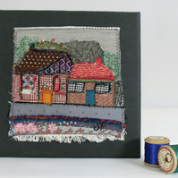 Textile Art Picture Neighbours