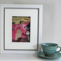 Paper and Stitch Tickled Pink Pig