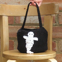 Child's Trick or Treat Ghost Bag, Toddler's Ghost Bag, Halloween Candy Bag