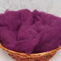 Damson Perendale Wool Basket Liner, Photo Prop, Purple Wool Fluff,Basket Stuffer