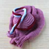 Plain Knitted Uterus with Placenta, Ante-natal Teaching Aid