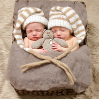 Pewter Perendale Wool Basket Stuffer, Pewter Wool Fluff, Newborn Photo Accessory