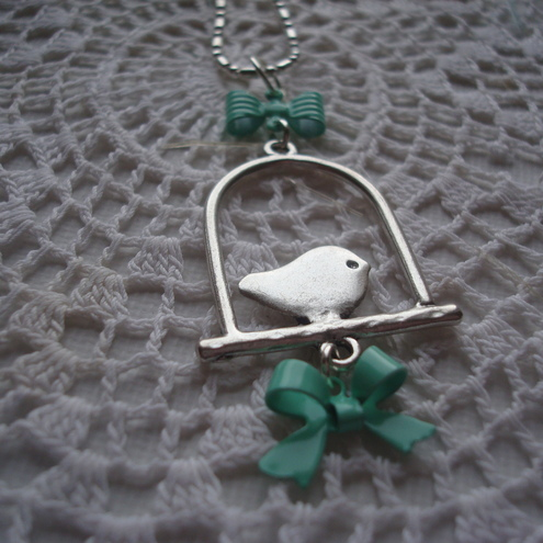 Tweet Tweet. silver necklace